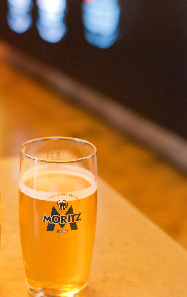Fábrica de cerveza Moritz. La rubia
