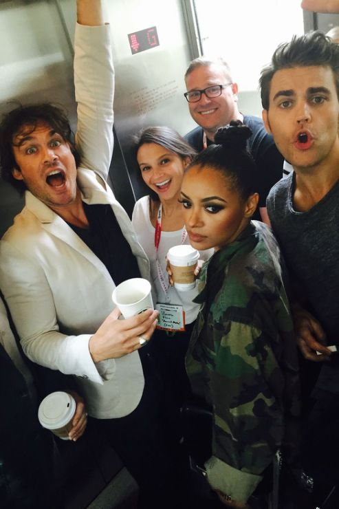Everyones so exicted especially Ian but not so much Kat- The Vampire Diaries Comic-Con - July 12, 2015