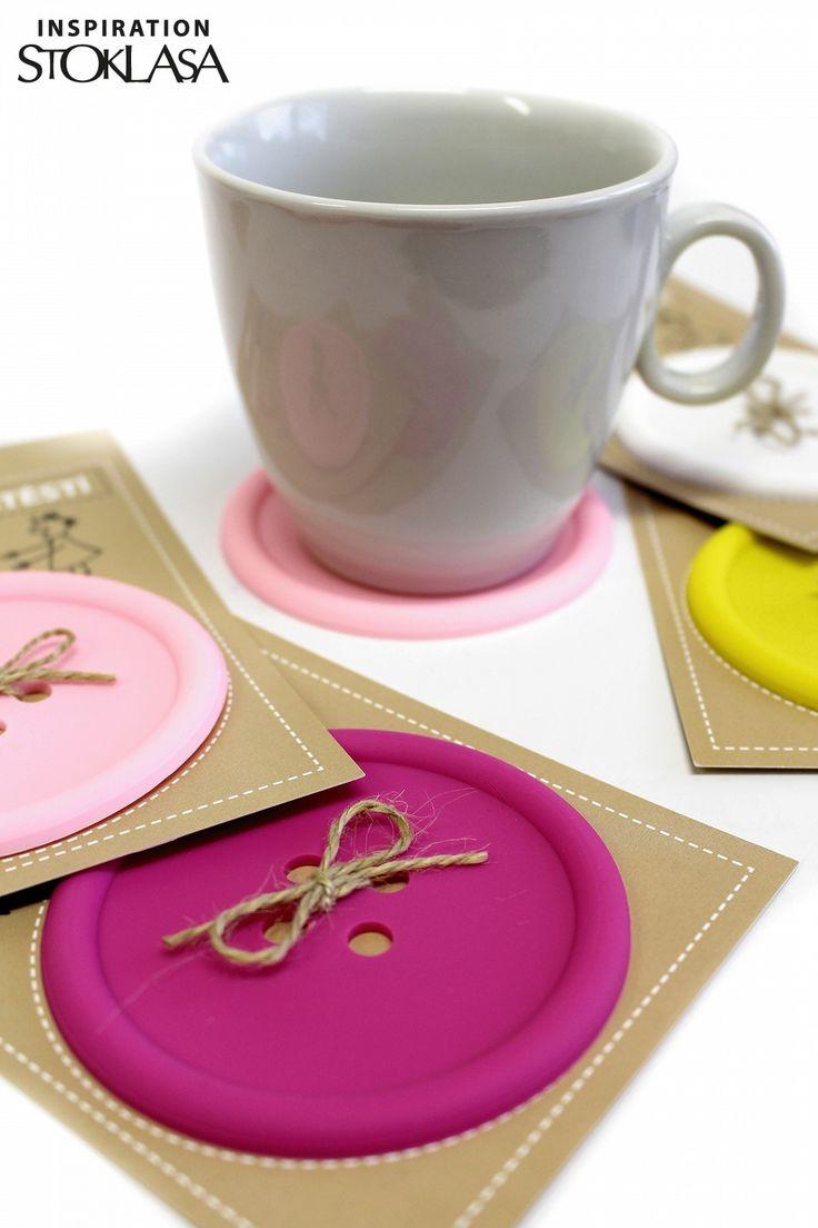 Knoflík pro štěstí / podtácek | STOKLASA textilní galanterie