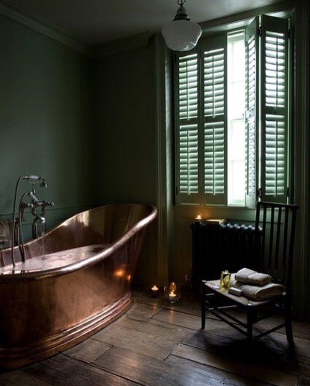 17 Best Ideas About Dark Green Bathrooms On Pinterest