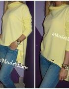 cytrynowa oversize asymetryczna   Cena: 63,99 zł  #bluzeczka #nowabluzka #modnabluzka
