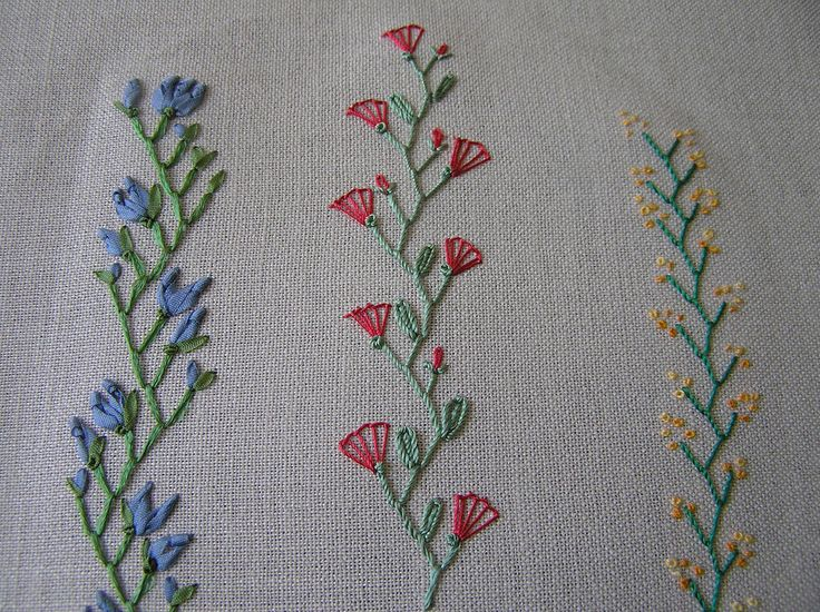 Crazy quilt stitches by Lin Moon, via flickr