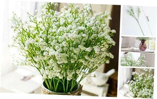 Nerseki 10pc Artificial Baby Breath Gypsophila Flower Wedding Home Decor Gift 689855009446 Ebay In 2020 Gypsophila Flower Floral Decor Decor Gifts