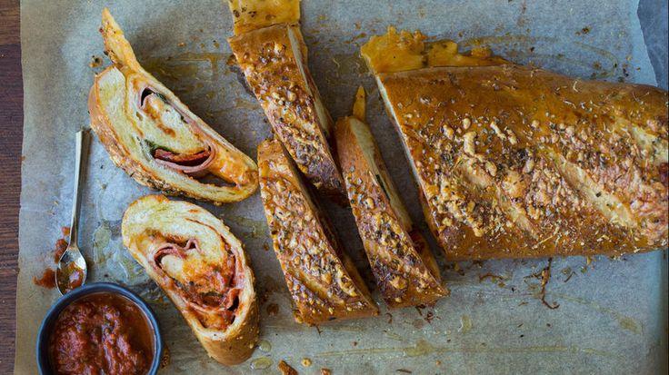 «Pizzarull» med skinke og pepperoni
