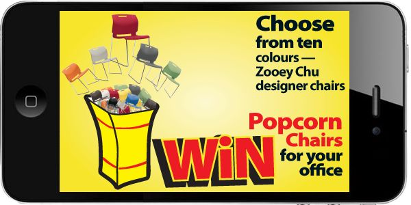 Here is a chance to win designer Popcorn Chairs for your office! http://www.play4fun.ca/play4fun.asp?mn=0