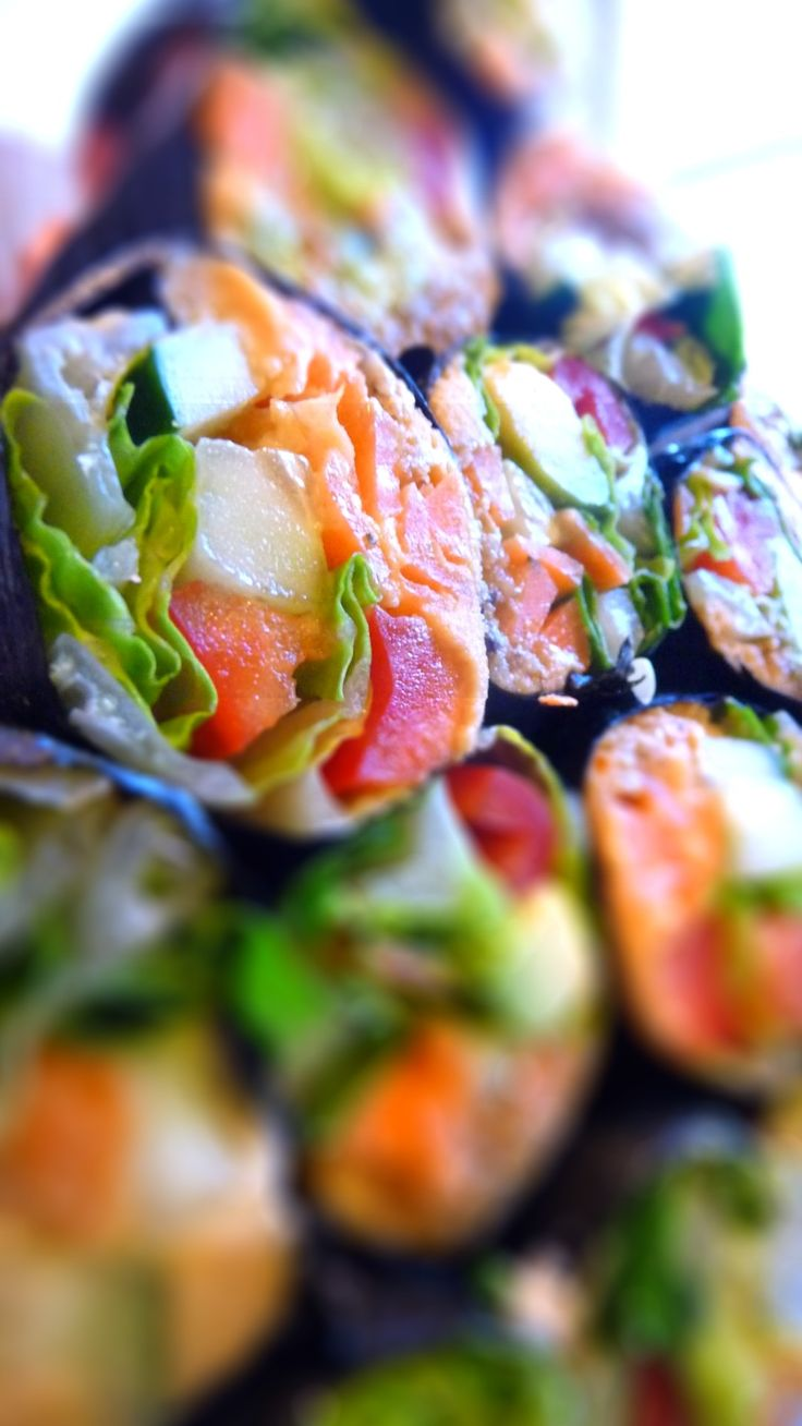 Raw Nori Rolls with Cashew Ginger Filling | The Full Helping