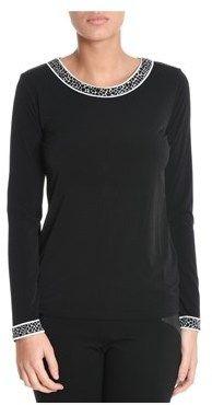 Michael Kors Women's Black Polyester T-shirt.