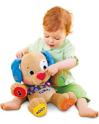 Great Christmas Toys for Babies: Laugh and Learn Puppy (via Parents.com)