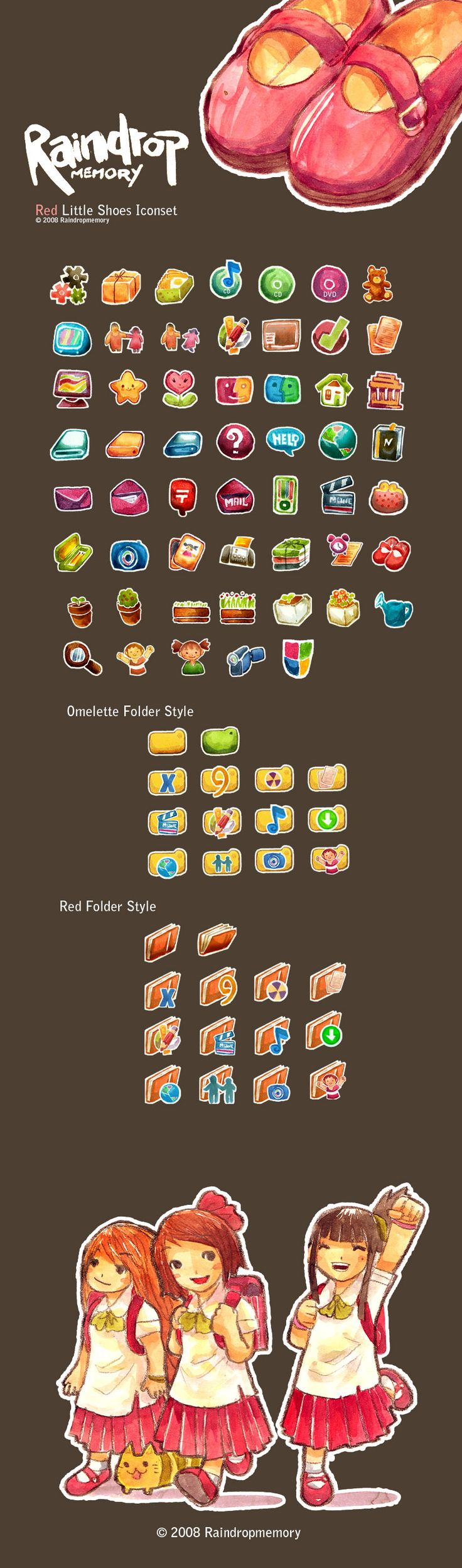 Red Little Shoes Icon set by ~Raindropmemory on deviantART
