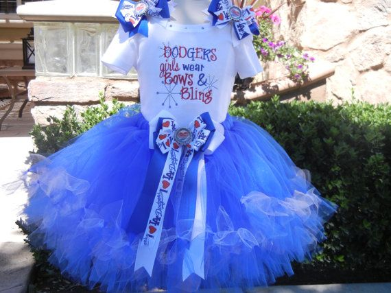 Dodgers Girl Bling outfit on Etsy, $57.00