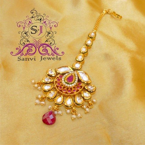 Kundan & Meenakari Maang Tikka - Online Shopping for Maang Tikkas by Sanvi Jewels Pvt. Ltd.