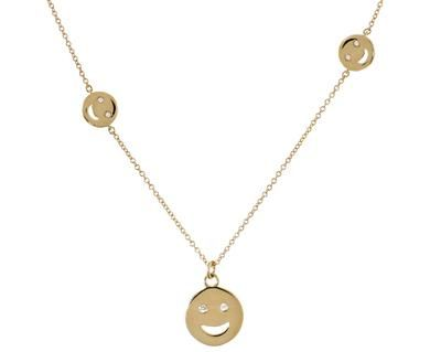 Alison Lou | Super Happy Face Necklace in Necklaces Chains at TWISTonline