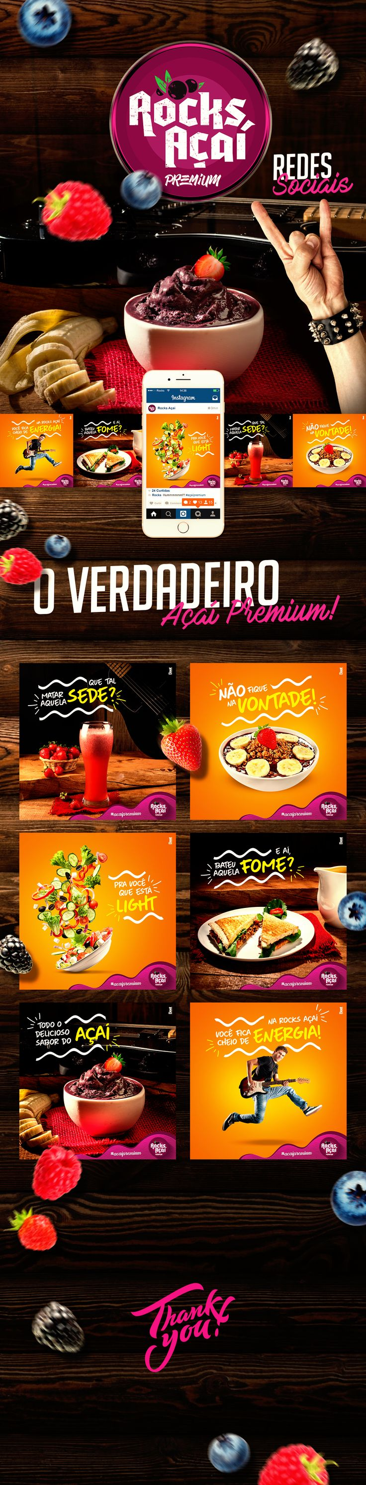 Confira este projeto do @Behance: u201cRocks Açaí - Social Mediau201d https://www.behance.net/gallery/51726973/Rocks-Acai-Social-Media