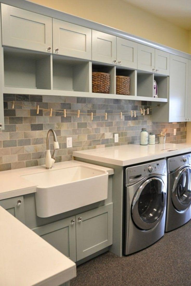 Best Laundry Room Design Near Me   Lavanderias grandes, Armario ...