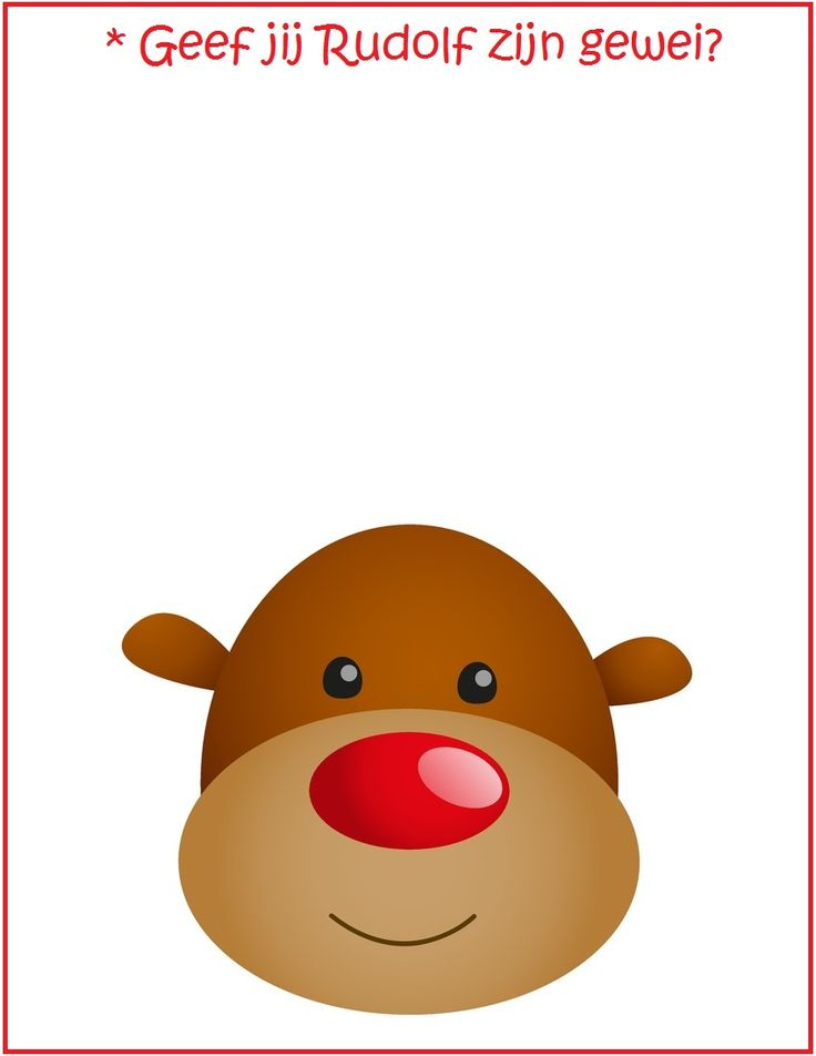 * Kleien: Geef Rudolf zijn gewei!