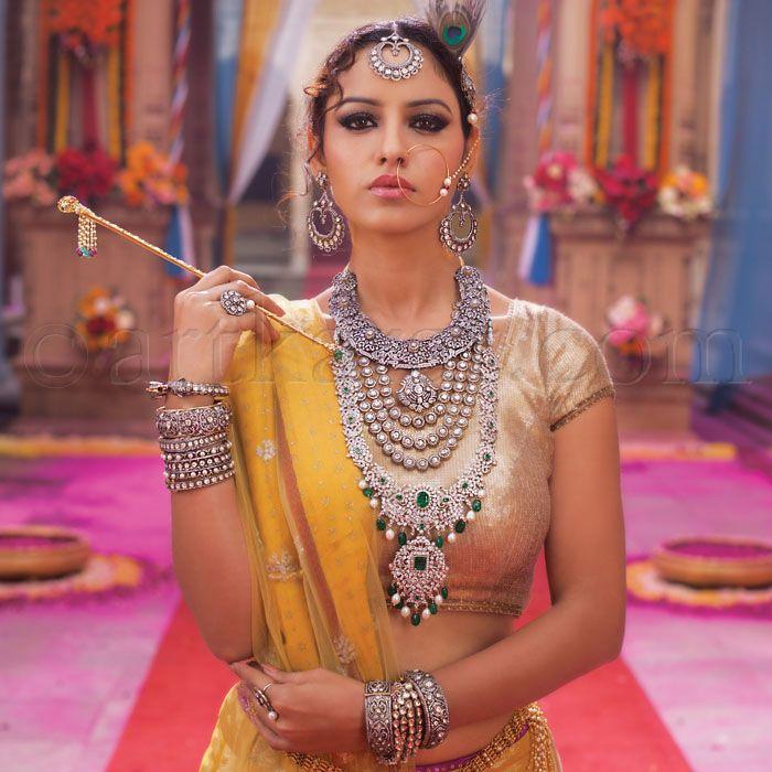 Indian jewelry, polki and kundan jewelry THE 'RAASLEELA' COLLECTION by Art Karat