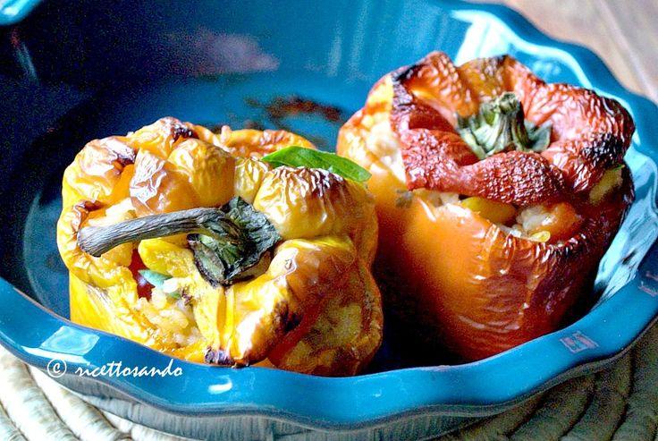 Peperoni light ripieni di riso. #ricetta di @luisellablog