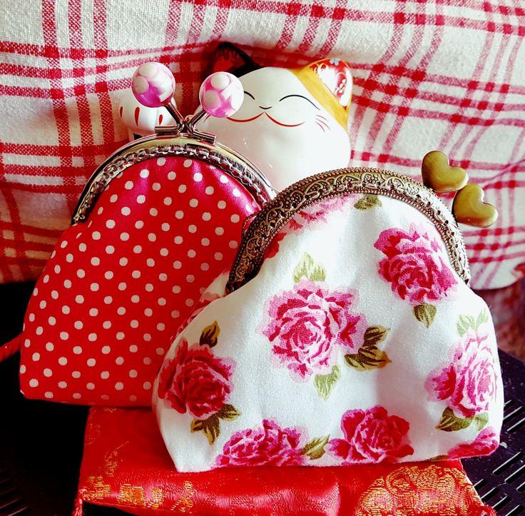 Pretty handsewn kiss lock purses