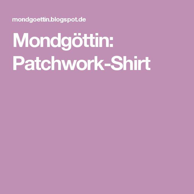 Mondgöttin: Patchwork-Shirt