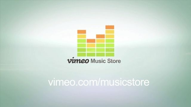 Mixing video footage with screen shots of the Vimeo music store.