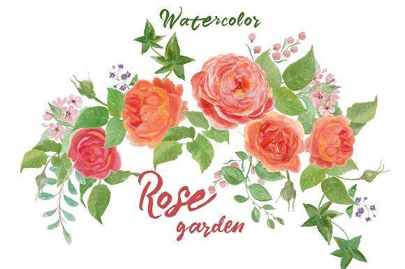 Rose garden by ramika on @creativemarket