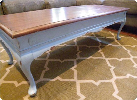 refinishing a coffee table | idi design