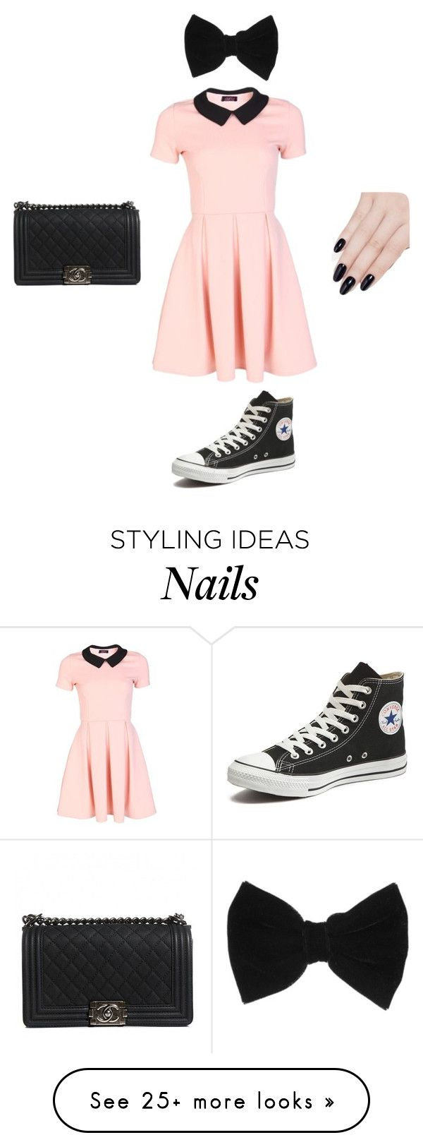 """By: My Cousin Lexi"" by kk-purpleprincess on Polyvore featuring Converse, claire's, ncLA and Chanel"