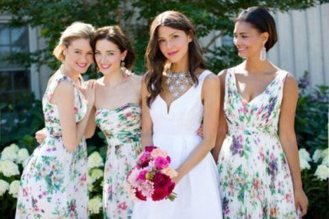 Vestidos de Dama de Honor con Estampado Floral 4