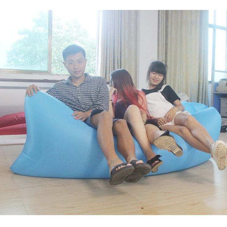 Big Size Beach Portable Outdoor Quick Inflatable Bone Sofa Relaxation Sleeping Camping Air Bed Oxford Folding Lazy Air Sofa Bag