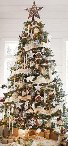 Rustic Christmas Tree #rustic #christmas                                                                                                                                                                                 More