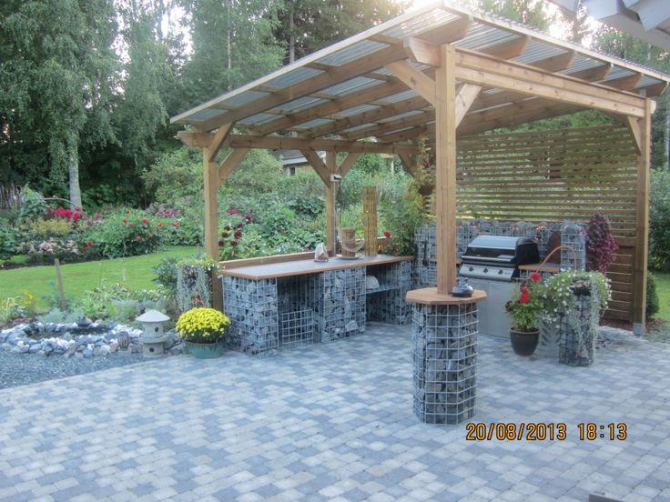 Summer kitchen at Siilinjarvi. Kesäkeittiö kivikori toteutuksena Siilinjärvi.