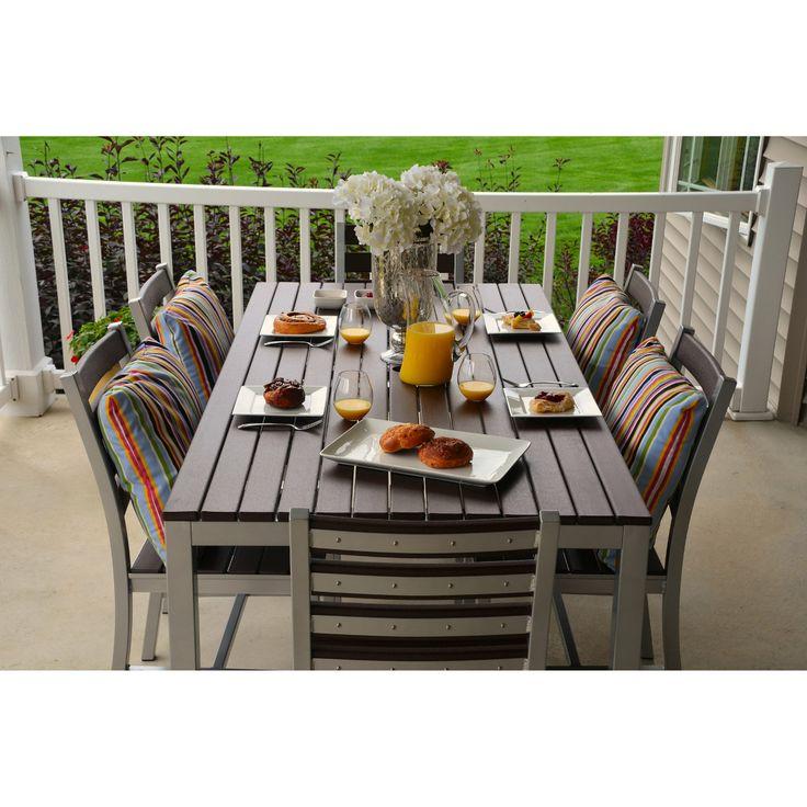 Elan Furniture Loft 72 x 36 in. Outdoor Dining Set - Patio Dining Sets at Hayneedle