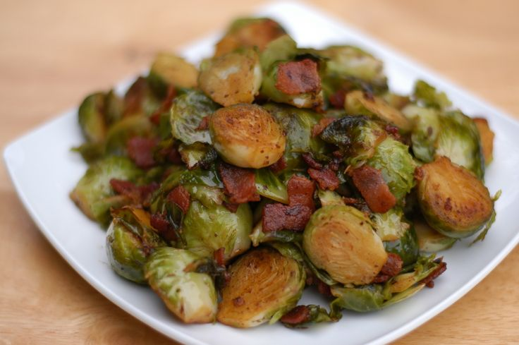 Bacon-Balsamic Brussel Sprouts (Comforting Eats)