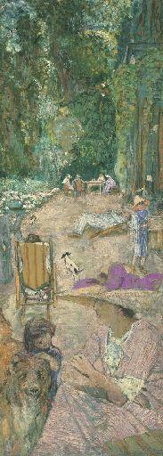 Édouard Vuillard - Aux Pavillons à Cricqueboeuf. Devant la maison