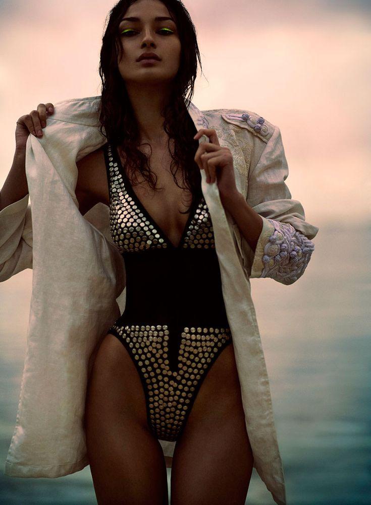Bruna Tenorio is a Heat Seeker for Chris Nicholls Flare July 2012 Shoot