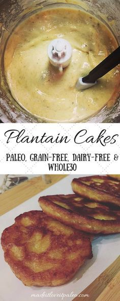 Plantain Cakes + Ideas to Stack It Up at MadeItLoveItPaleo.  These simple, delicious plantain cakes are paleo, grain-free, dairy-free & Whole30.
