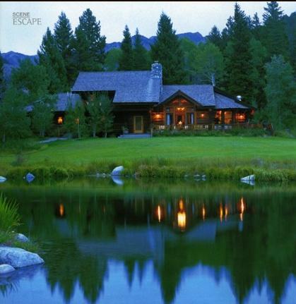 Papoose Creek Lodge, Montana...an amazing get away spot and pretty log homeMontana Mi Dreams, Lodges Logs, Beautiful Homes, Dream Homes, Creek Lodges, Pretty Logs, Dreams House, Beautiful Ponds, Logs Cabin