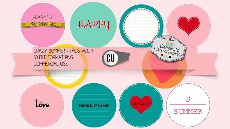 Crazy Summer Tags Vol 1 by Debora's Creations (CU)