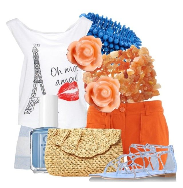"""""""Kings Island Outfit"""" by trulydear ❤ liked on Polyvore featuring Luxury Fashion, Lord & Taylor, Essie, Mar y Sol, René Caovilla and Warehouse"""