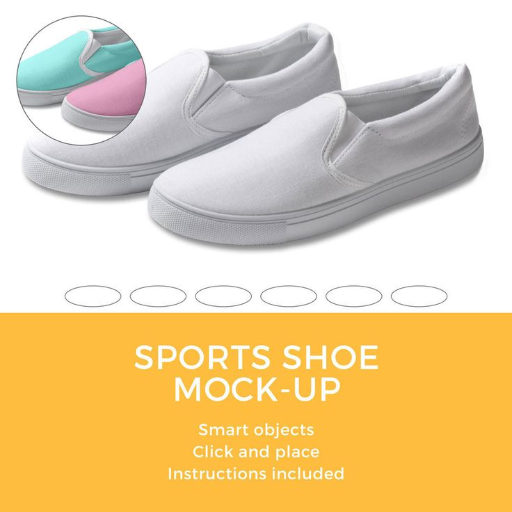 Photoshop document of a sports shoe mock-up. Suitable for pattern designers  to display
