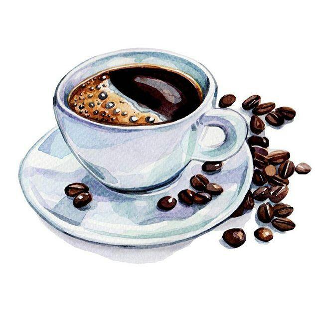 Открыток, кофе картинка для детей на прозрачном фоне