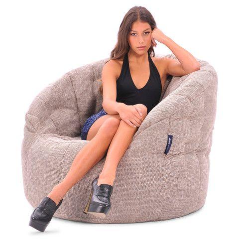 Interior Bean Bags | Butterfly sofa Cream Bean bag | Ambient Lounge
