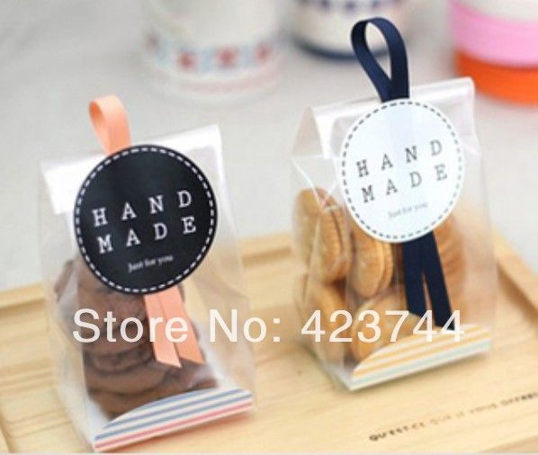 Wholesale 2013 big clear cookie/biscuit plastic gift bag for food packaging 8.5*6.5*23cm free shipping! US $22.49