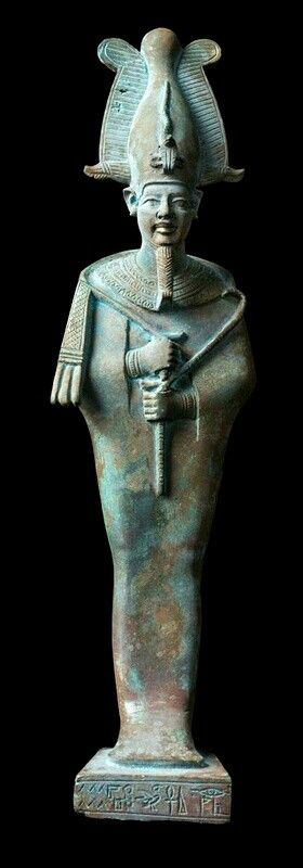 copper alloy statuette of the god Osiris, Late Period (664 -34BC.