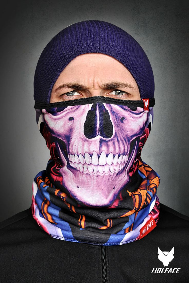 Name: Skull Guns Neck tube for riders Neck tube Wolface is dedicated to snowboarders, skiers, cyclists, motorcyclists. More info: www.shop.wolface.eu www.wolface.eu