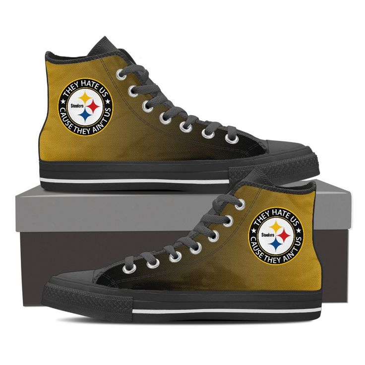 They Hate Us Cause They Ain't Us Pittsburgh Steelers High Top Shoes – Best Funny Store