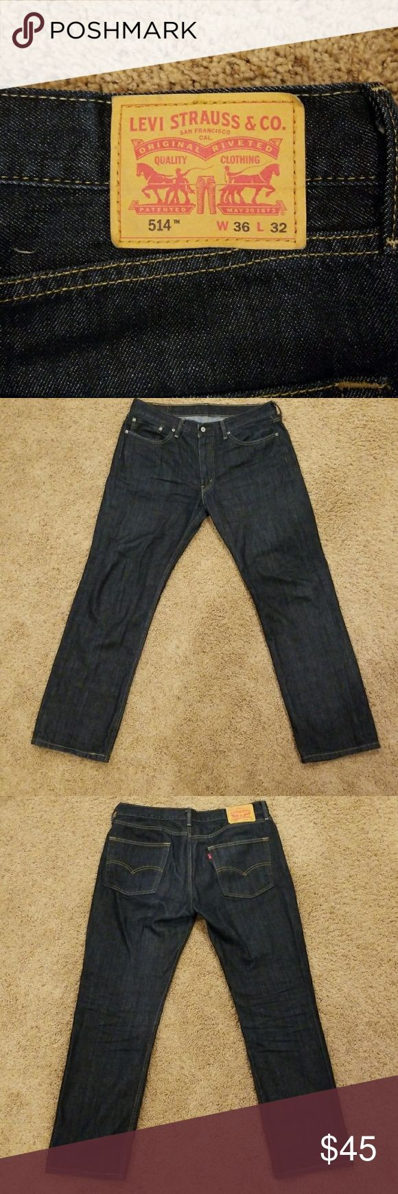 Levi's Jeans 514 Perfect condition, like new Levi's 514 Jeans. These have very minimal wear.  36 x 32 Levi's Jeans Straight