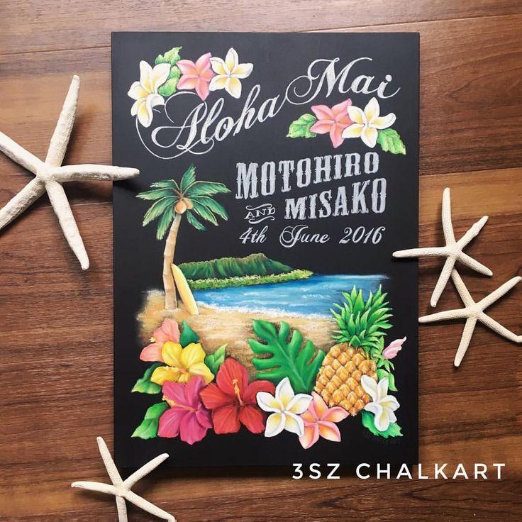Wedding welcomeboard 黒板 チョークアート chalkart