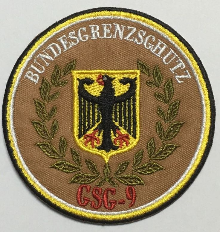 THE GERMANY GSG-9 NINE TEAM ROYAL FLYING CHAPTER PATCH