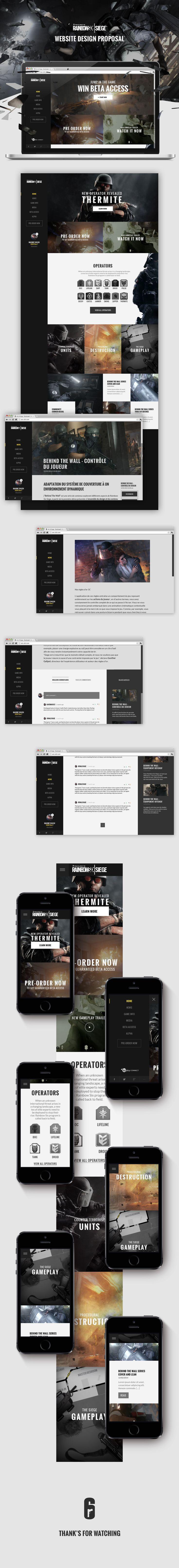 Rainbow 6 | ART OF SIEGE on #Behance #Ui #ux #mobile #layout #webdesign #case #casestudy #ubisoft